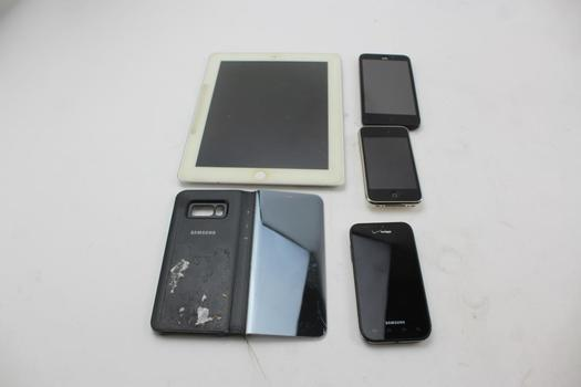 Cell Phones And IPad: 4 Pieces, Sold For Parts