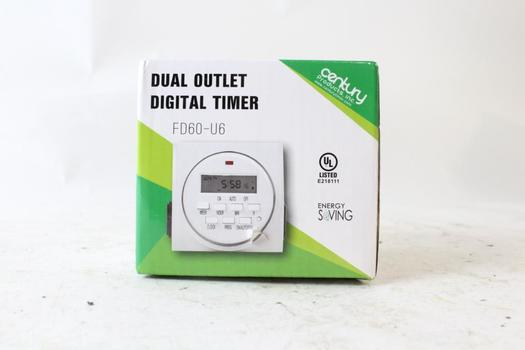 Century Dual Outlet Digital Timer
