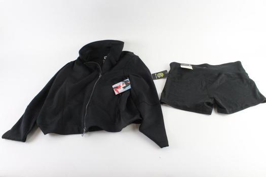 Champion Extra Large Shorts And Joy Lab Large Sweatshirt, 2 Pieces