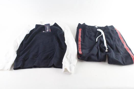Champion Sweatshirt And Sweatpants, M, 2 Pieces