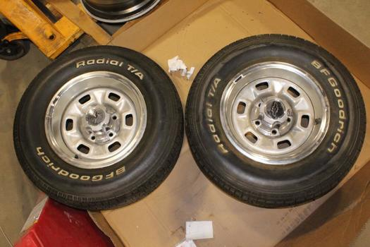"Chevy 14"" Rims/wheels, 2 Pieces"
