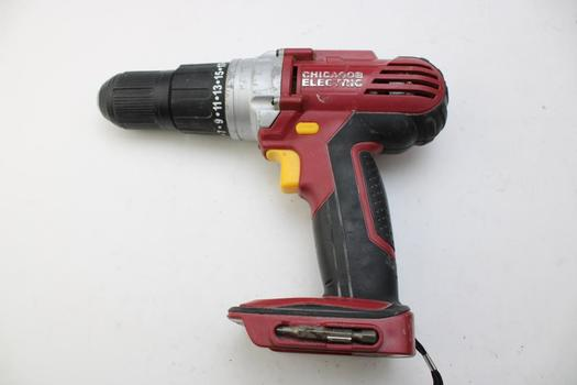 Chicago Electric 68850 Cordless Drill Driver (Tool Only)