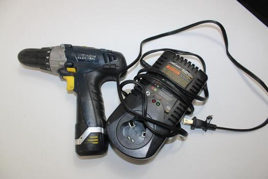 Chicago Electric Lithium Drill 69360 With Battery Pack And Charger