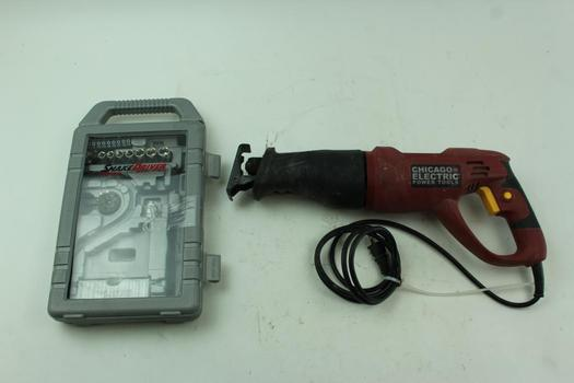 Chicago Electric Reciprocating Saw & Snake Driver Sockets & Tool Bits; 5+ Pieces