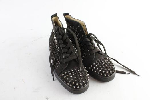 Christian Louboutin Leather Spike Mens Shoes, Size 9.5(42.5)