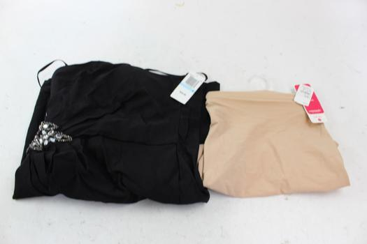 City Triangles Size 5 Dress, Commando Half Slip Size Small/Medium: 2 Items