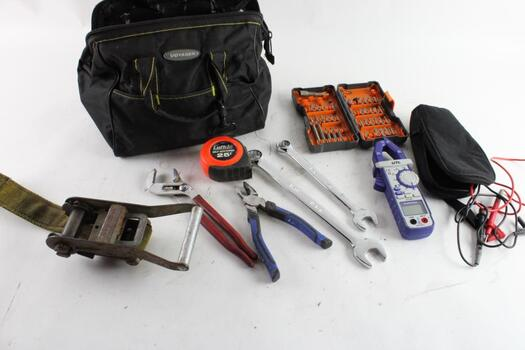 Clamp Meter, Wrenches And More, 10+ Pieces