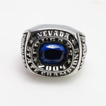 Class Ring With Blue Stone