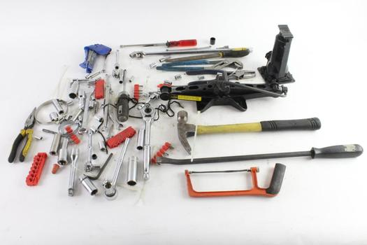 Claw Hammer, Hydraulic Bottle Jack, And More, 10+ Pieces