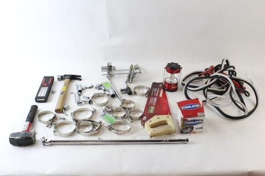 Claw Hammer, Jumper Cables, And More, 5+ Pieces