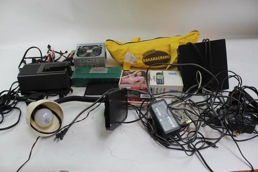 Clear Print Fingerprint Kit, Bananagrams Jumbo Letter Game, Dynex Fan, & More; 5+ Pieces