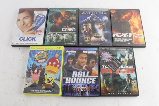 Click, Roll Bounce, And More, DVD Movies, 7 Pieces