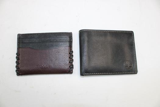 Coach & Timbland Wallets; 2 Pieces