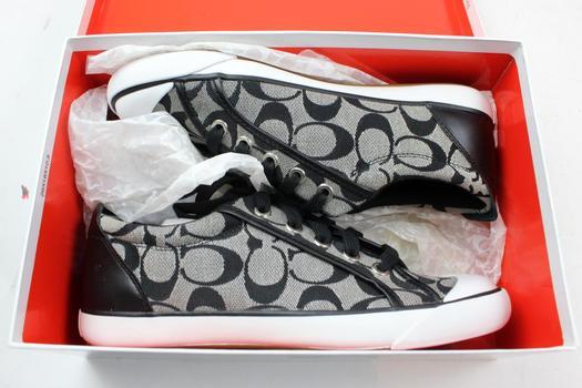 Coach Women's Barrett Signature C Jacquard Sneakers A1067 Size 7.5