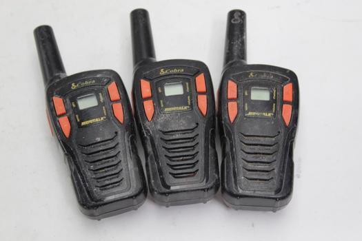 Cobra 2 Way Radios, 3 Pieces