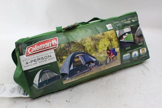 Coleman 4 Person Dome Tent With Airbed
