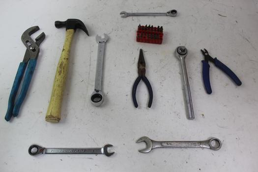 Combo Wrenches, Pliers, & More; 7+ Pieces