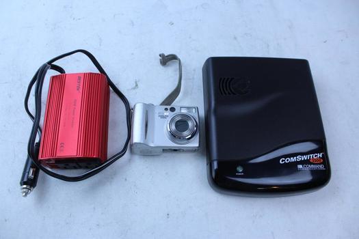 Command Comswitch, Bestek Power Inverter, & Nikon Digital Camera; 3 Pieces