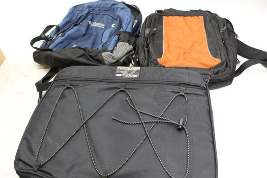 Computer Bag And Backpacks: Columbia, Eddie Bauer: 3 Items