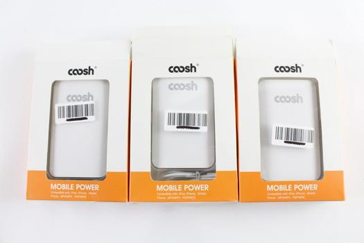 Coosh Mobile Power Portable Chargers, 3 Pieces