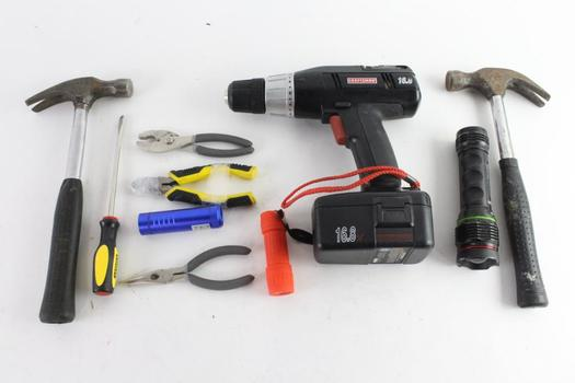 Cordless Power Drill, Claw Hammers, And More, 5+ Pieces