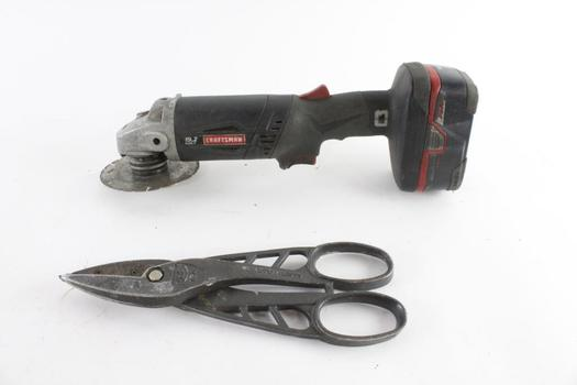 Craftsman Cordless Angle Grinder And More, 2 Pieces