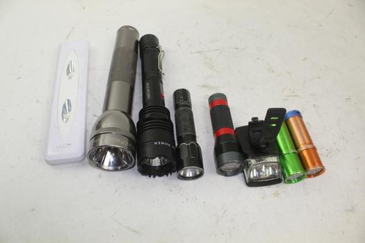 Craftsman, Maglite, & More Assorted Flashlights; 5+ Pieces