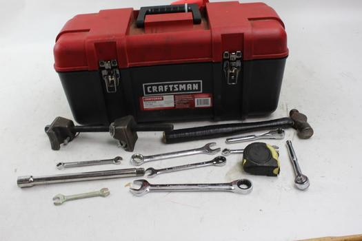 Craftsman Toolbox With Assorted Tools, 12+ Pieces
