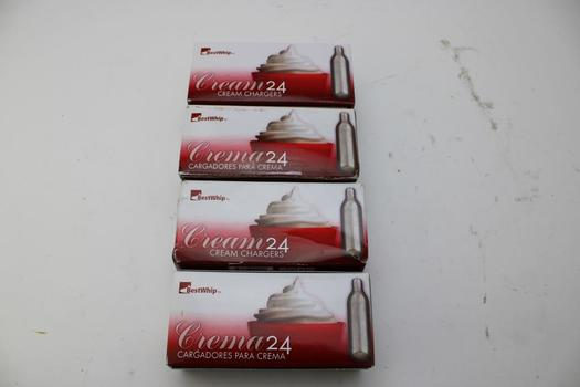 Cream Chargers Co2 Cartridges; 4 Pieces