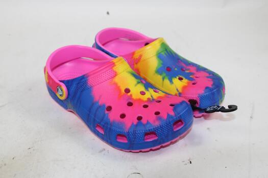 Crocs Unisex Rainbow Non-Slip Shoes Mens Size 5 Womens Size 7