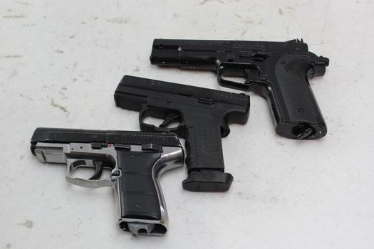 Crosman, Walther, Daisy Air Soft Pistols 3 Pieces