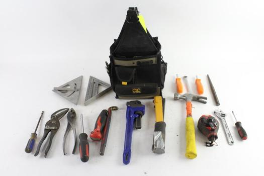 Custom Leathercraft Tool Bag With Tools, 10+ Pieces