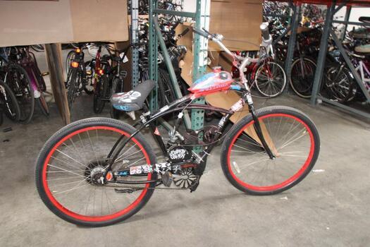 Custom Motored Black Bike