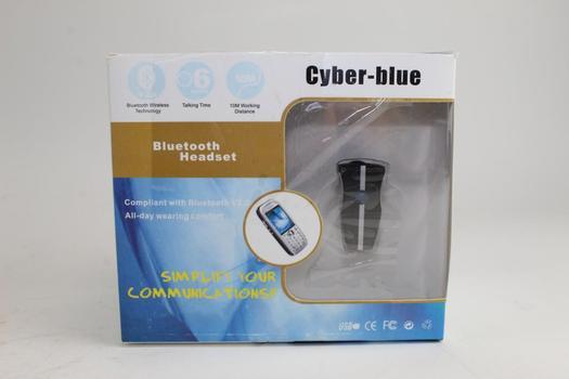 Cyber-Blue Bluetooth Headset, Lot Of 3