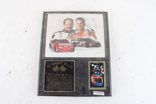 Dale Earnhardt Sr & Jr Plaque
