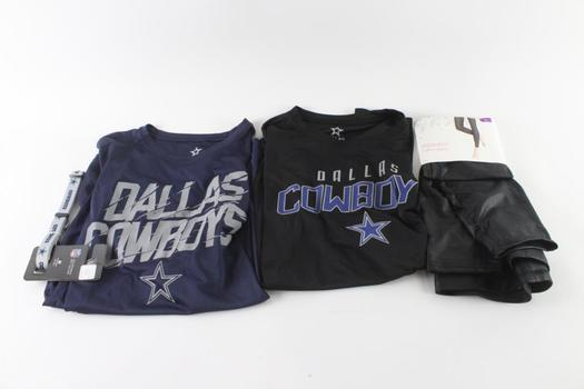 Dallas Cowboys And Other Brand Clothing Lot, 3 Pieces And More
