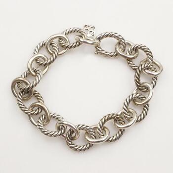 David Yurman Sterling Silver Oval Link Bracelet