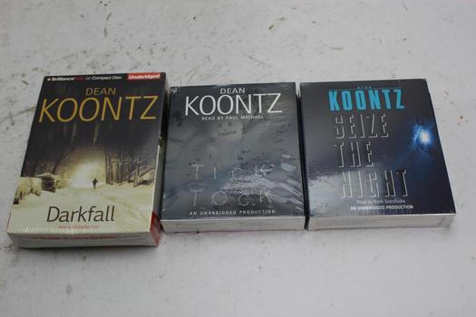 Dean Koontz Audiobooks, 3 Pieces