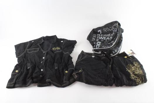 Dereon Vests, Size 1X And 16W And Rocawear Shoulder Bag, 3 Pieces