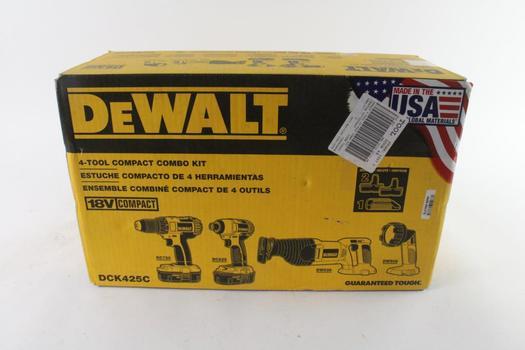 DeWalt 4-Piece Power Tool Bulk Set