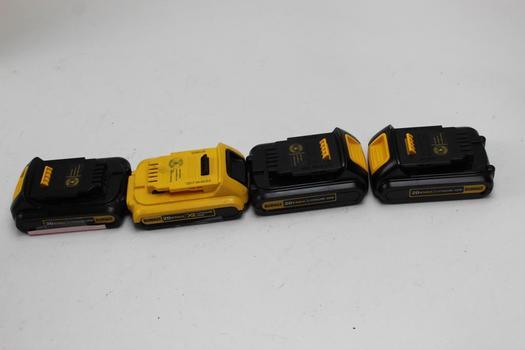Dewalt Batteries, 4 Pieces