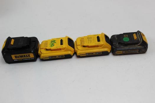 Dewalt Batteries 4 Pieces