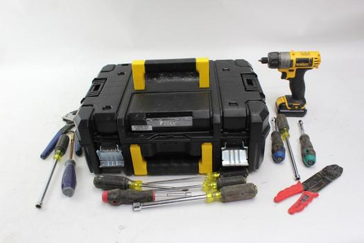 DeWalt Dcf610 Cordless Screwdriver, Pliers And More: 10+ Pcs