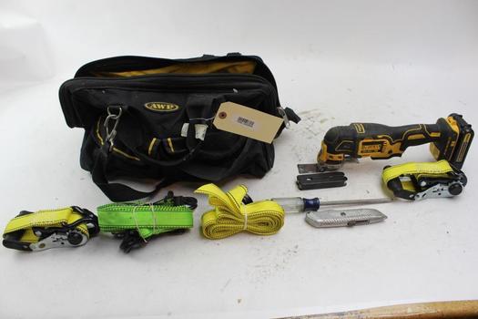 DeWalt Dcs355 Oscillating Tool, Ratchet Ties, Straps