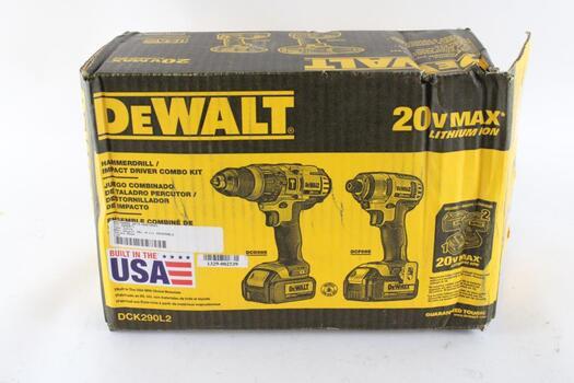 DeWalt Hammerdrill And Impact Driver Combo Kit