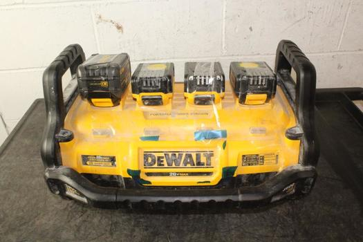 DeWalt Portable Power Station With Four Battery Packs