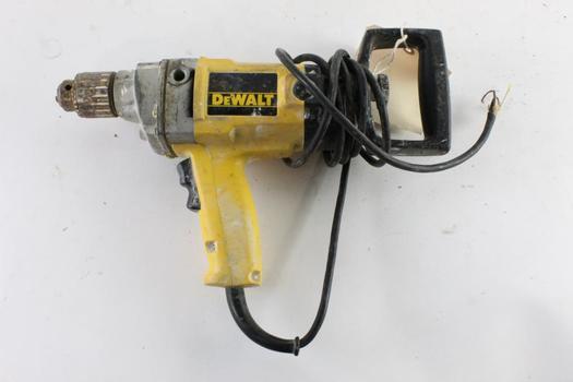 DeWalt Reversing Drill, Sold For Parts