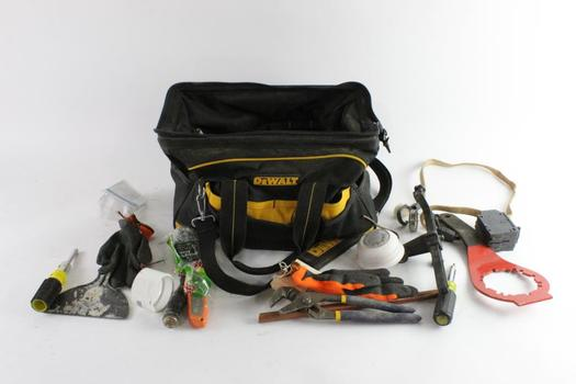 DeWalt Tool Bag With Tools, 10+ Pieces