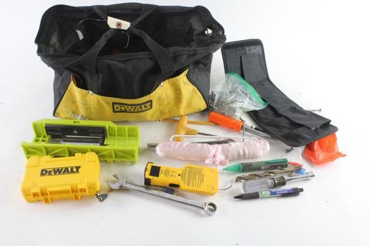 DeWalt Tool Bag With Tools, 10+ Pieces