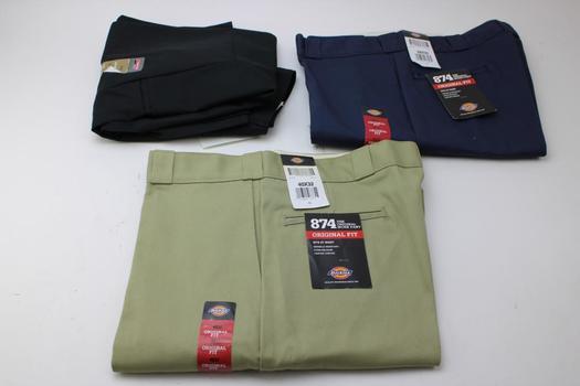 Dickies Men's Pants; 3 Pieces; Size 38-40